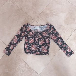 Urban Outfitters Cropped Floral Top 💗